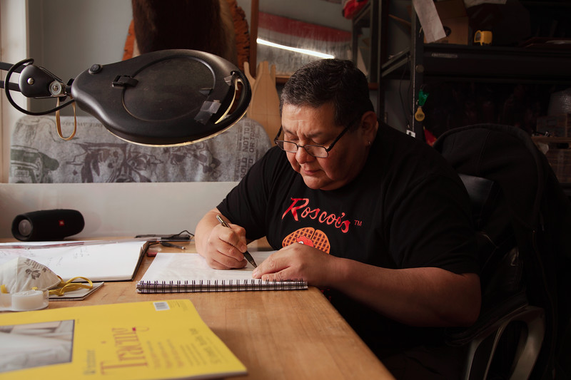 Joe Seymour, Squaxin Island and Pueblo of Acoma Artist, 47 Years Old