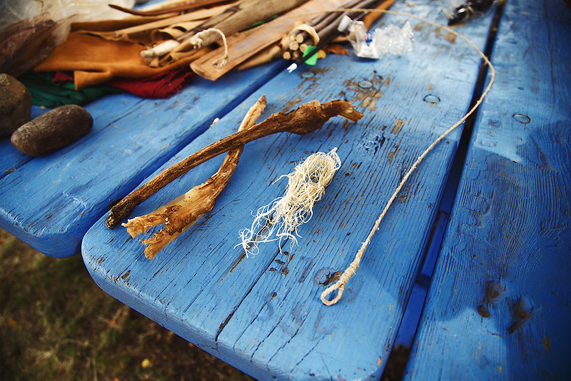 The Three Stages of a Native Sinew Bowstring