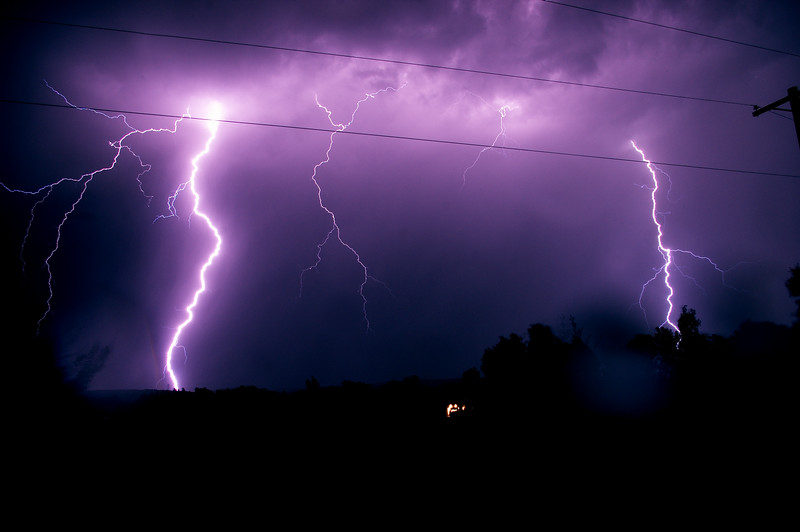 <center><h1>Shocking Photo</h1></center>  The lightning was getting a little close for comfort here in Algodones.   <i>I did think about changing the white balance to get rid of the purple, but I kind of like the color.  </i>