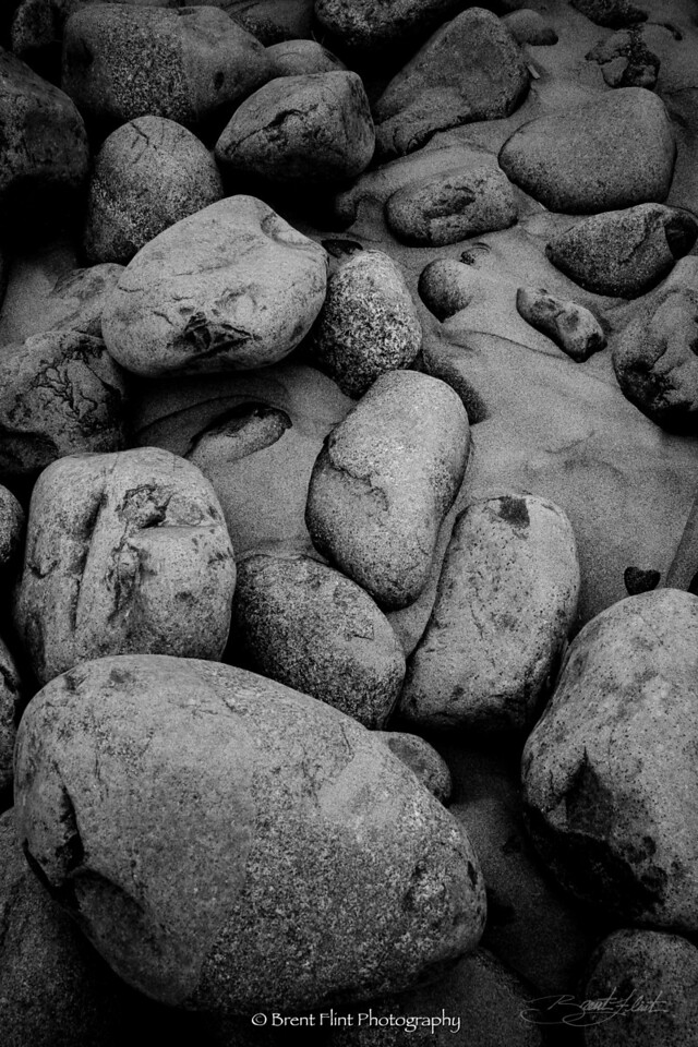 DF.642 - beach stones, Seaside, OR.
