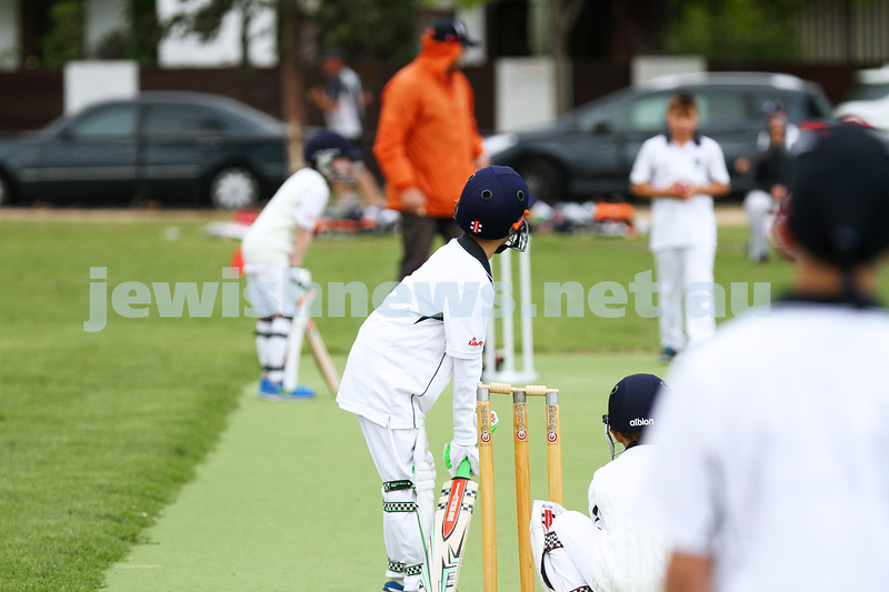 2-11-14. Under 11 cricket. Maccabi AJAX Blue 1/104 def Maccabi AJAX White 8/31. Photo: Peter Haskin