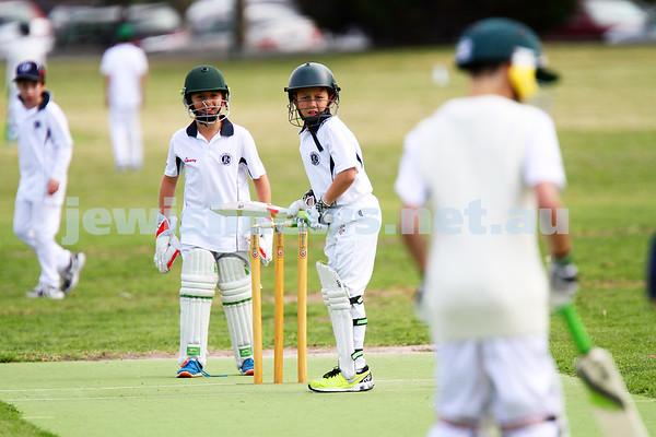 Under 11 Cricket. Maccabi AJAX Blue v Maccabi AJAX White