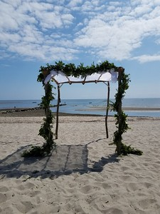 Freestanding Chuppah on the Beach (CT)