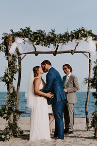 Beachside Jewish Wedding Under the Chuppah (CT)