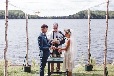 A Lakeside Jewish Wedding (Readfield, ME)