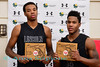 National Division All tournament players  Tre'Shaun Fletcher and Ahmaad Rorie, Lincoln