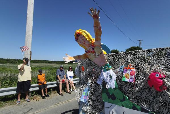 Waving Mermaid - Wellfleet Parade - July 4, 2009