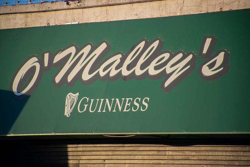 O'Malley's Bar awning in Aggieville on November 18th 2019 (Dalton Wainscott I Collegian Media Group)