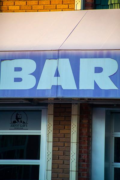 Bar sign in Aggieville on November 18th 2019 (Dalton Wainscott I Collegian Media Group)