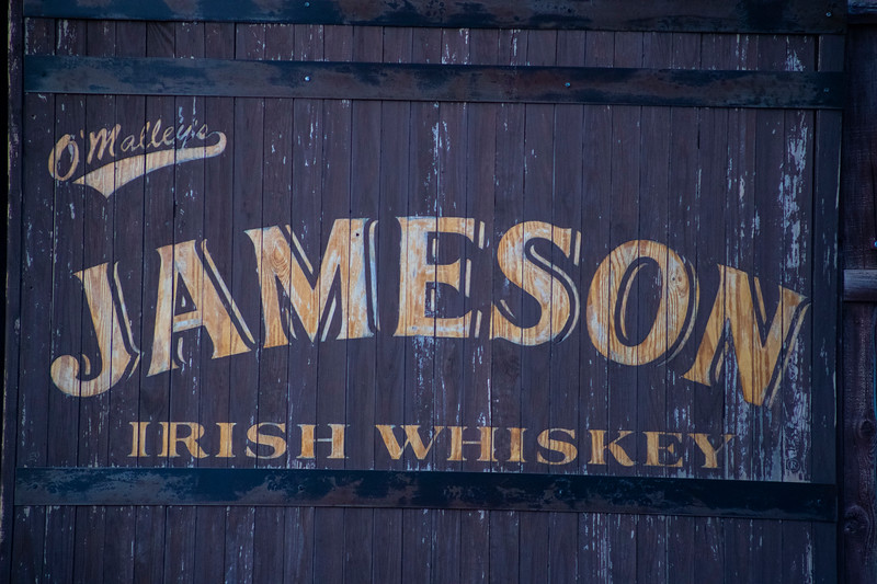Jameson Irish Whiskey sign in Aggieville on November 18th 2019 (Dalton Wainscott I Collegian Media Group)