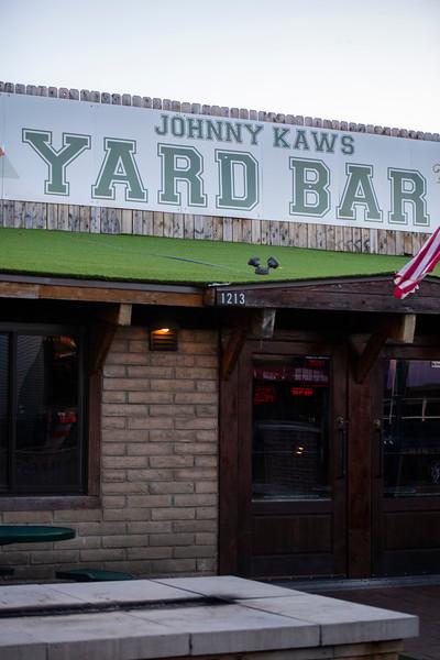 Vertical Yard Bar sign in Aggieville on November 18th 2019 (Dalton Wainscott I Collegian Media Group)