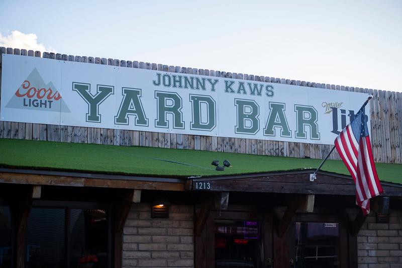 Yard Bar sign in Aggieville on November 18th 2019 (Dalton Wainscott I Collegian Media Group)