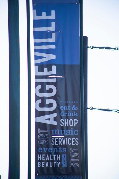 Aggieville sign on November 18th 2019 (Dalton Wainscott I Collegian Media Group)