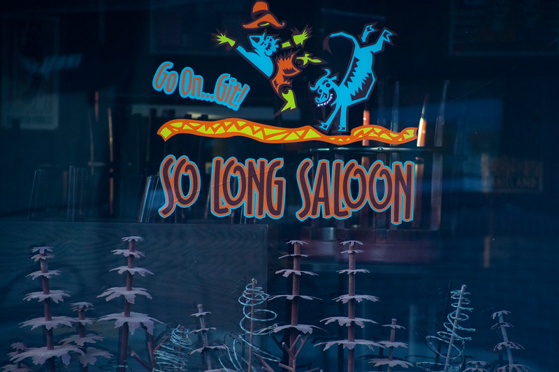 So Long Saloon window sign in aggieville on November 18th 2019 (Dalton Wainscott I Collegian Media Group)