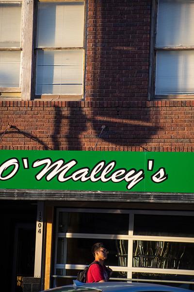 O'Malley's sign in Aggieville on November 18th 2019 (Dalton Wainscott I Collegian Media Group)