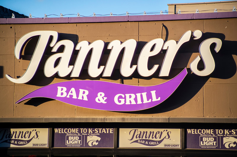 Tanner's Bar and Grill sign in Aggieville on November 18th 2019 (Dalton Wainscott I Collegian Media Group)