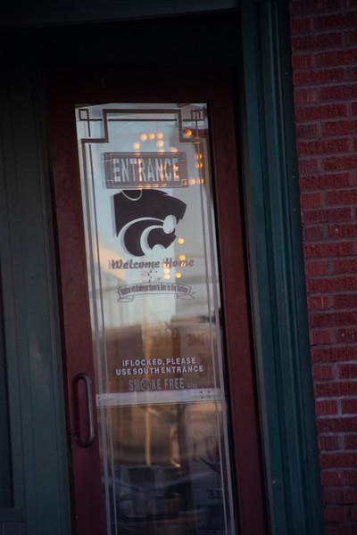 door to KITE'S Bar in aggieville on November 18th 2019 (Dalton Wainscott I Collegian Media Group)