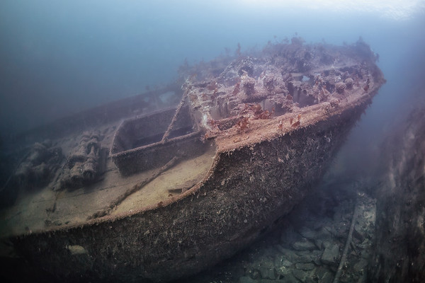 #9624 The wreck of D/S Spring, Askøy, Hordaland, Norway