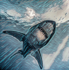 Fractal Great White Shark