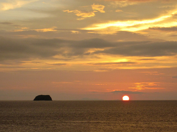 Sombrero Island at Sunset