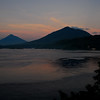 View across Lembeh Straight at Sunrise