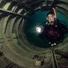 A diver (Lisa) explores Mermet's Boeing 727 where the tail engine was formerly located  _MS7