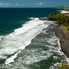 Black Sand Beach along St. Vincent's East Coast.