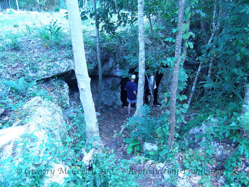 Some cave entrances are quite hidden by the jungle, and at first appear to be unlikely spots openings to huge cave systems.  There are probably hundreds, if not thousands of these lying in the jungle, yet to be discovered.