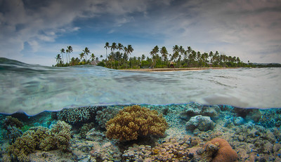 Over/Under of Wakatobi beach
