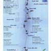 Our route and dive sites in the Maldives