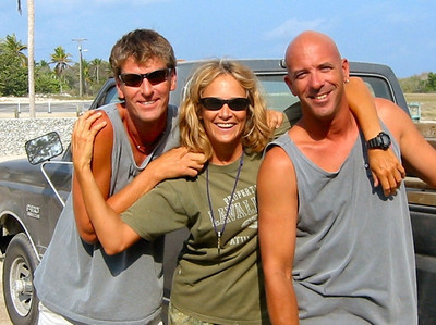 Rod, Vince and Paradise Divers truck Ann drove so skillfully