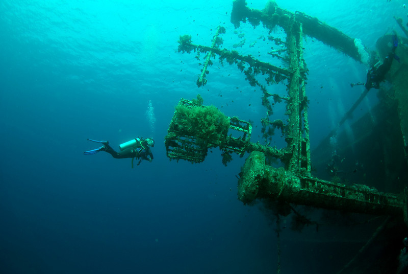 "The ""Cedar Pride"" was sunk for divers in 1985. She lies on her port side. Maximum depth 25m."