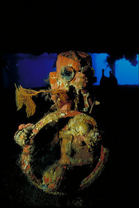 Helm of the Nippo Maru.  Alert Diver magazine - March 2001 issue (gallery photo) Divers Alert Network (DAN) http://www.diversalertnetwork.org/
