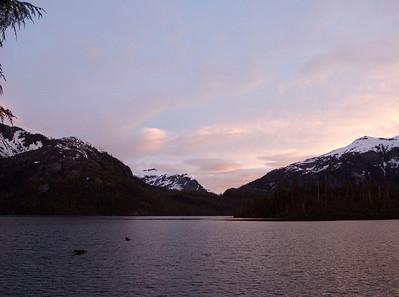 Sunset at Baranof Lake