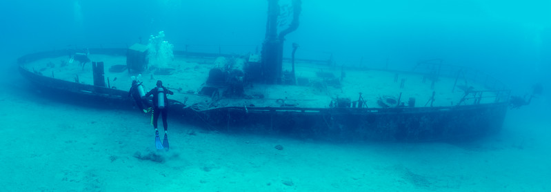 """""""Steel Forrest"""" dive site in Nassau, Bahamas - February 2017"""
