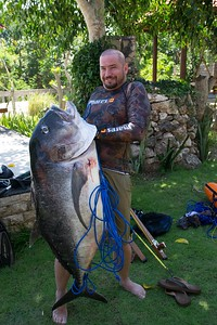 Brian and the giant trevally