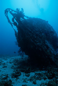 The Devil's Table Wreck sits upright on the bottom.