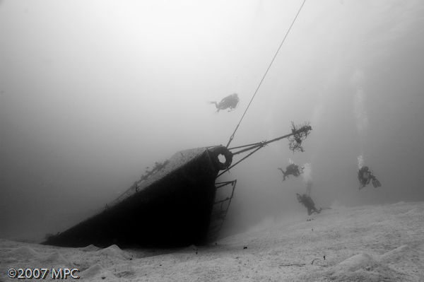 Divers on the Russian Frigate, Cayman Brac