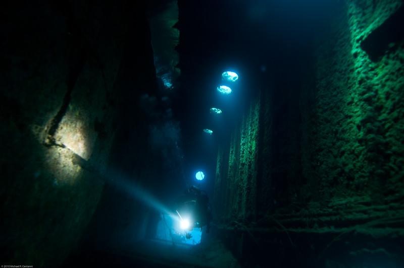 Inside the wreck of the Hilma Hooker
