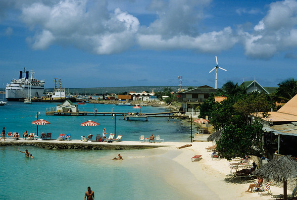 Flamingo Beach, Bonaire Bonaire is a popular cruise boat stopover.