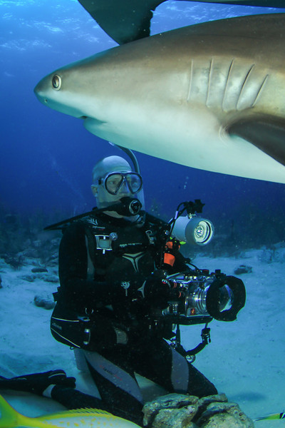 Me with my camera gear, Bahamas - February 2011