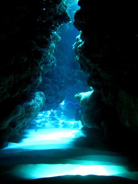 Swim-through tunnel, South Sound, Grand Cayman