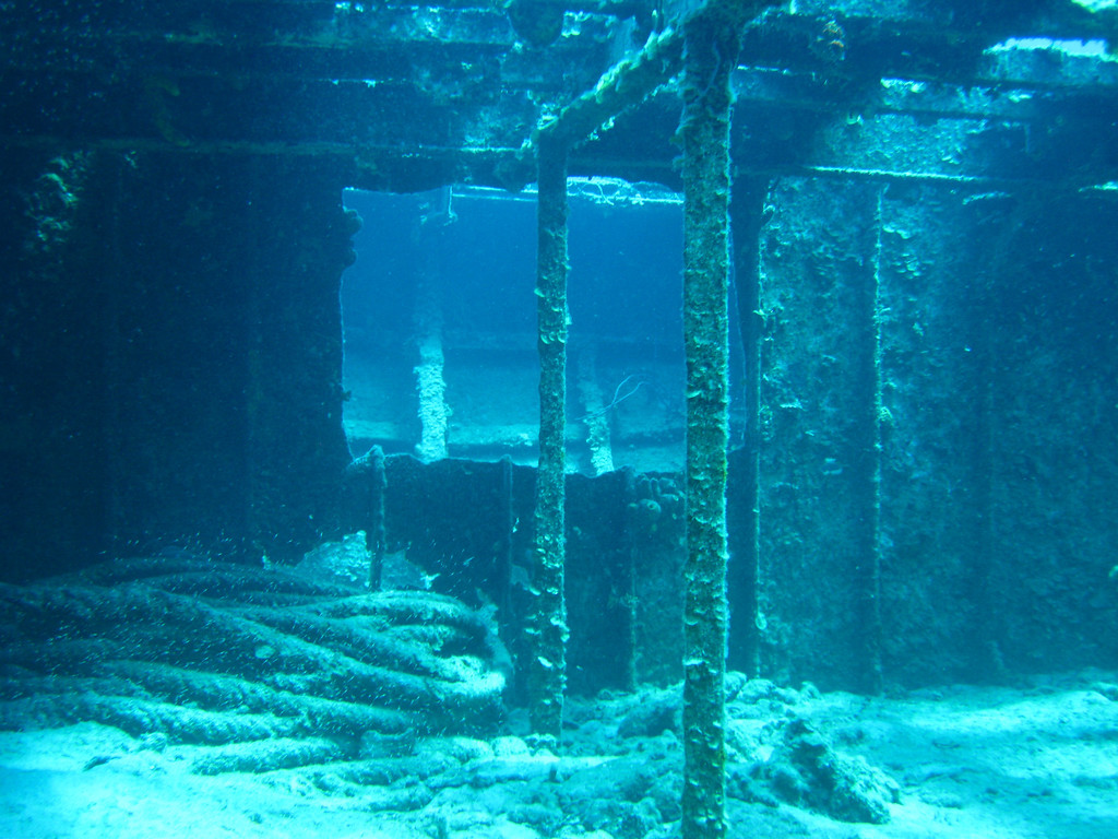 Inside the Doc Poulson wreck.