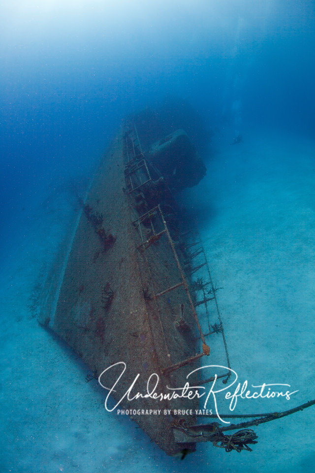 Most of my time on this trip (when I wasn't searching for jawfish) was spent on wide angle photography.  This wreck of a Russian destroyer on Cayman Brac offered a perfect subject.