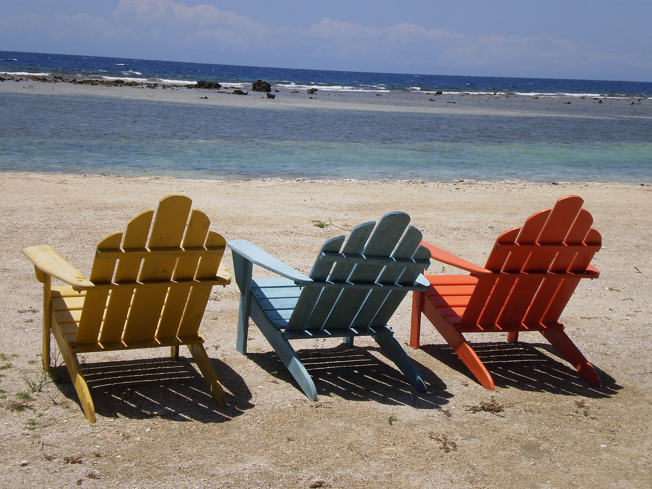 My beach chairs in early morning light!