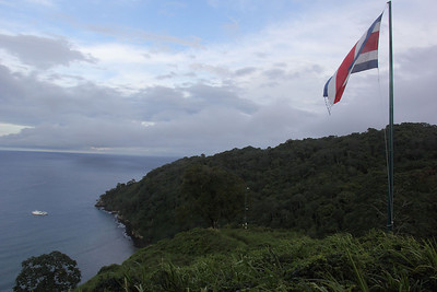 Cocos Island, from the top.  You are only allowed on the Island with permission of the rangers, and no one except the rangers is allowed to stay overnight on land.