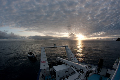 Sunrise aboard the Okeanos Aggressor at Cocos Island