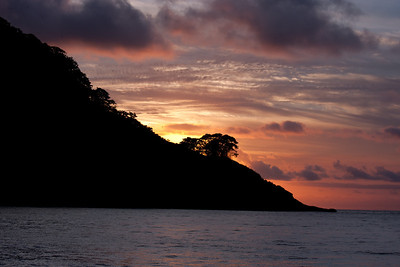 Sunset over Cocos Island, Costa Rica