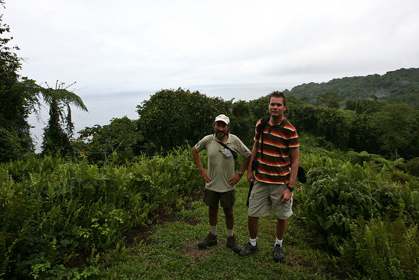 Taking a hike around the island with the park ranger.