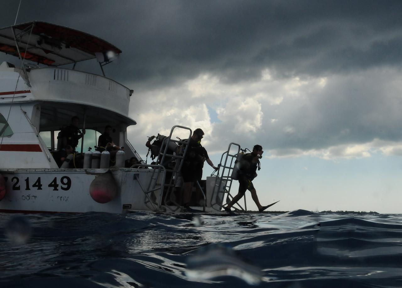 Diving off Cozumel - November 2011